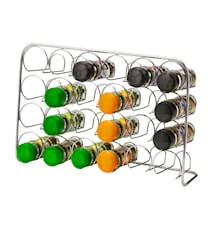 Pisa Spice Rack 24 Jars Chrome