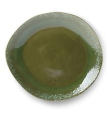 70's Mattallrik i Keramik Grön 29 cm