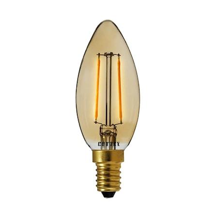 LED Amber E14 Kruunu 2 W