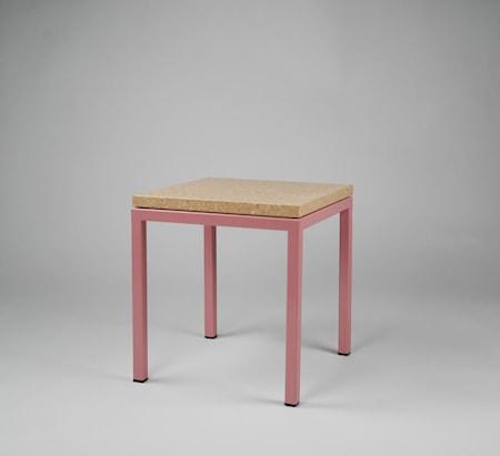 Piccolo bord 30x30x30 Rosa underrede Pisa pink