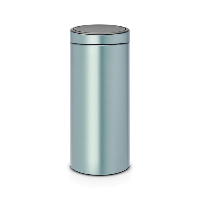 Touch Bin NEW, plastinnerhink 30 L Metallic Mint