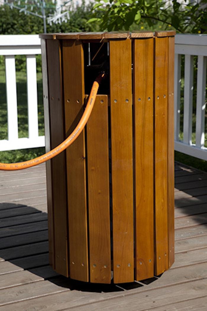 Skyddsbord för gasolflaska brun