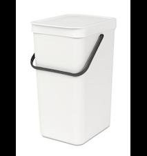 "Waste bin ""SORT & GO"" 16L White"