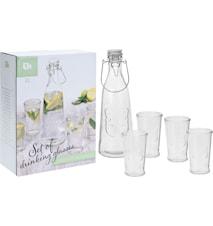 Vattenkanna och glas, 5-delar