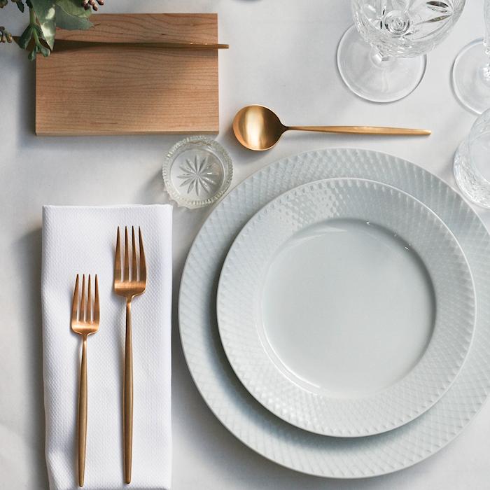 Rhombe Frokosttallerken Ø21 cm Hvidt Porcelæn