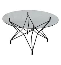 Star Underrede, soffbord, Ø90, svart