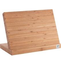 Knivblock, bambu - magnet. 15x30x18,5 cm