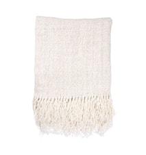 Linen Pledd White 130x170 cm