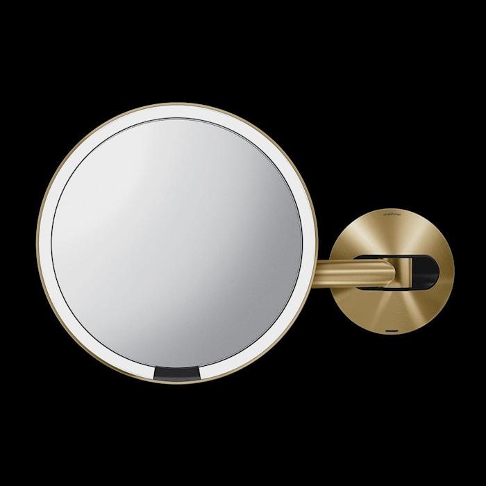 Väggmonterad Sensor Spegel Mässing Uppladdningsbar 20 cm