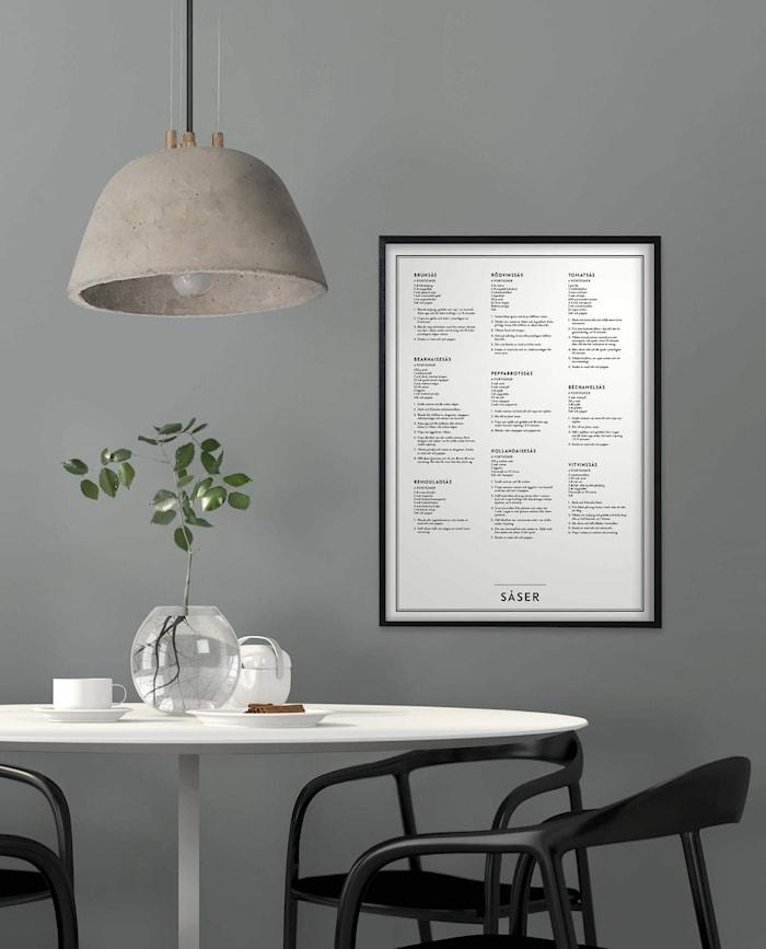 'Såser' Poster 50x70 cm