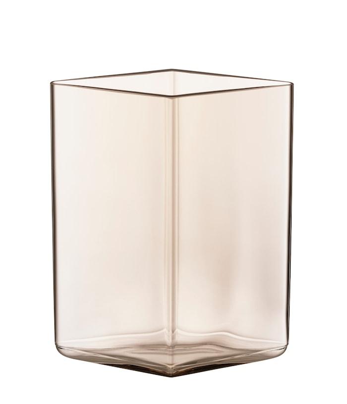 Ruutu vase 115x140 mm lys brun