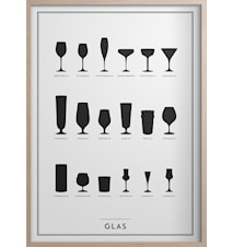 Glas Poster 30x40 cm