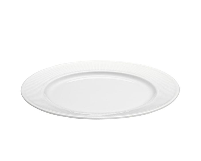 Plissé tallerken flat hvit, Ø 20 cm