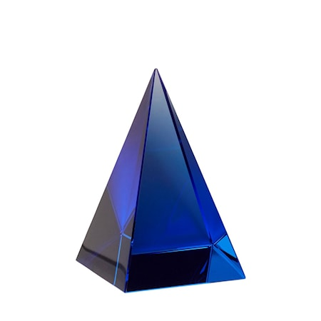 Glaspyramid Blå