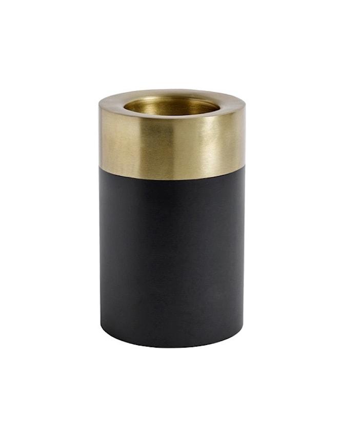Ljusstake Svart/Guld Metall