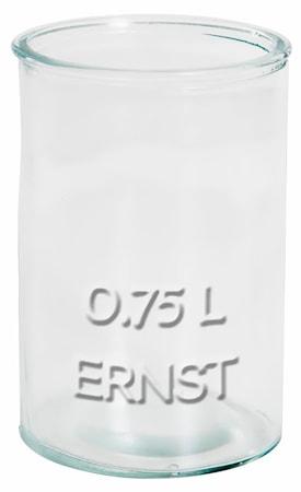 Glaskrukke 0,75 liter Ernst
