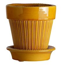 Simona Ruukku aluslautasella Glazed Yellow Amber 18 cm