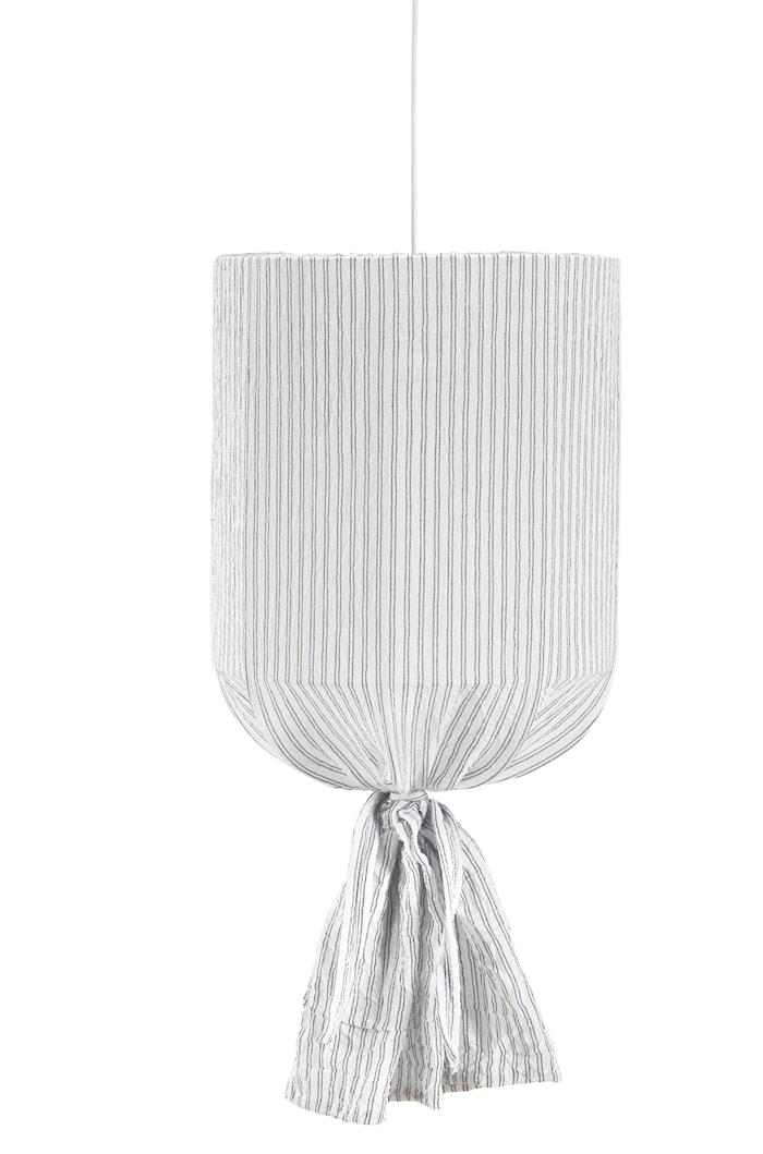 Round Takskjerm Stripete Hvit/Blå 40cm