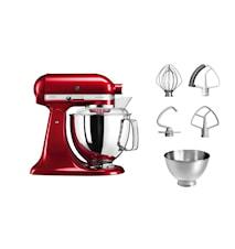 Artisan 175 Køkkenmaskine 4,8 liter Rød Metallic 5KSM175PSECA