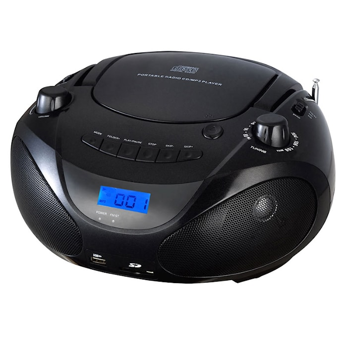 Boombox CD/Radio/MP3/USB Black
