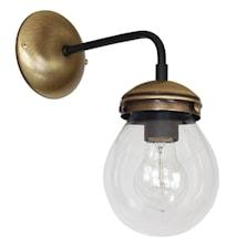 Hydro Vägglampa Oxid/svart/klarglas