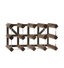 Wine rack for 12 bottles extendable dark oak