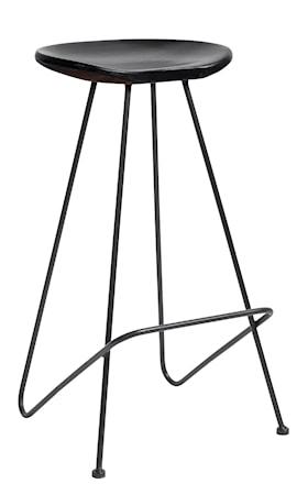 Barstol i træ 72 cm - Sort