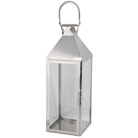 Lykta Silver för inomhusbruk 11x10x25cm