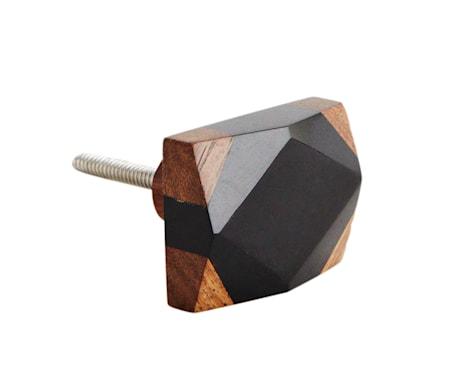 Dørhåndtag 3x4 cm - Sort/natur