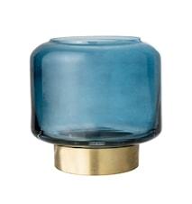 Ljuslykta Blå Glas Ø8x8 cm