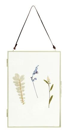 Meta Ramme med Tørkede blomster Vertikal Grønn
