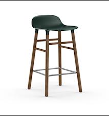 Form Barstol Grön/Valnöt 65 cm