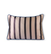 Satin/Velvet Cushion Brown/taupe 35x50 cm