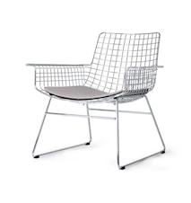 Metal Wire Lounge Chair Silver m/hynde