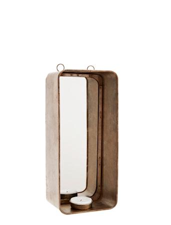 Valolyhty peilillä 11x8x25 cm - messinki