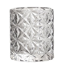 Telysholder Grå Glass 8x9cm