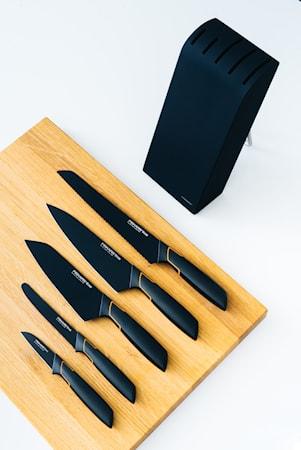 Edge Knivset med Knivblock Svart