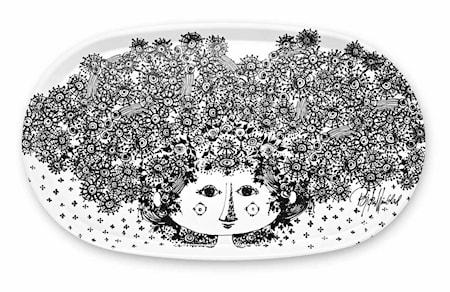 Bakke, Felicia, sort, oval, 32x55 cm