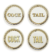 Cock/Tail Glasunderlag 4-pack