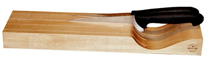 Liggande knivblokk for 4 kniver