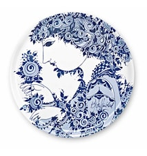 Bakke, Lyserødmunde, blå, Ø46 cm