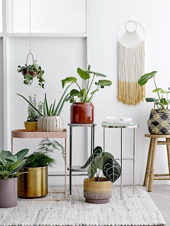 Flowerpot, Yellow, Stoneware