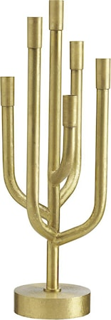 Comet lysestake Raw old brass 65cm