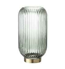 Ljuslykta Glas Grön Ø15x28,5 cm
