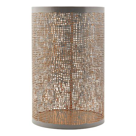 Ljuslykta Ø 12,5x19,5cm Grå/guld