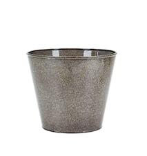 Pot Metaal Grijs 17x20 cm