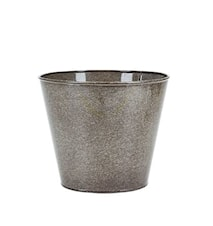 Pot gris en métal 17x20 cm