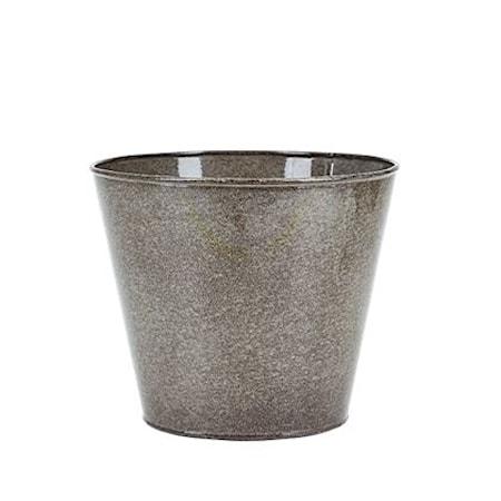 Kruka Metall Grå 17x20 cm