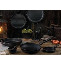Le Gourmet Stekepanne med rørhåndtak, rund kant 28 cm