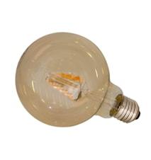 Glödlampa LED dimbar E27 Ø12,5 cm